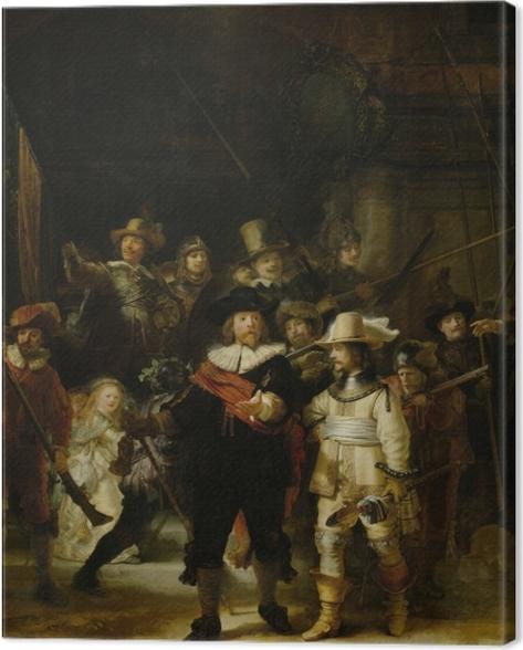 Tableau sur toile Rembrandt - La Ronde de nuit - Reproductions