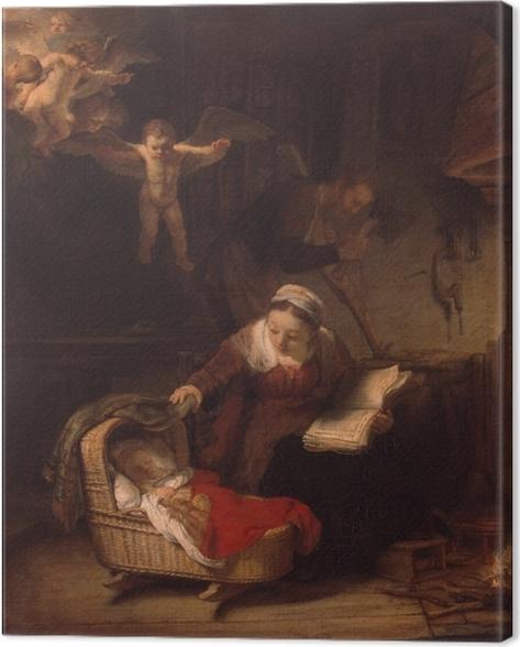 Tableau sur toile Rembrandt - La Sainte Famille - Reproductions