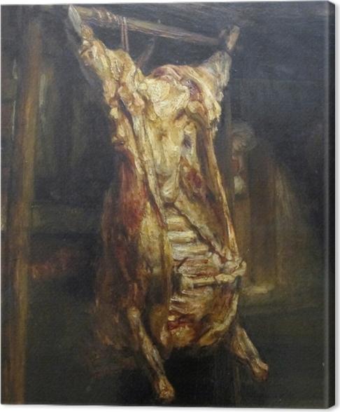 Tableau sur toile Rembrandt - Le Bœuf écorché - Reproductions