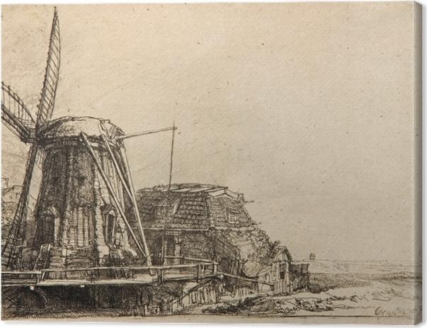 Tableau sur toile Rembrandt - Le Moulin - Reproductions
