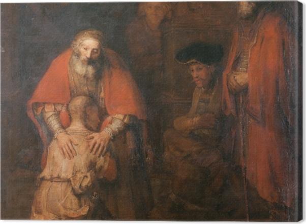 Tableau sur toile Rembrandt - Le Retour du fils prodigue - Reproductions