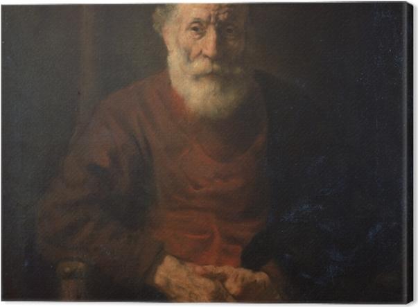 Tableau sur toile Rembrandt - Portrait d'un vieillard en rouge - Reproductions