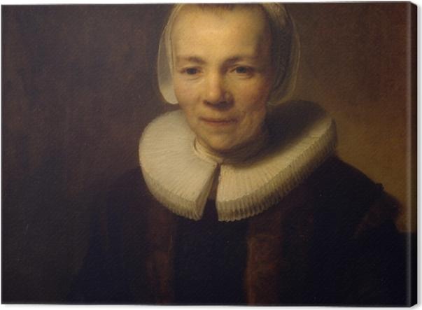 Tableau sur toile Rembrandt - Portrait de Baertje Martens - Reproductions