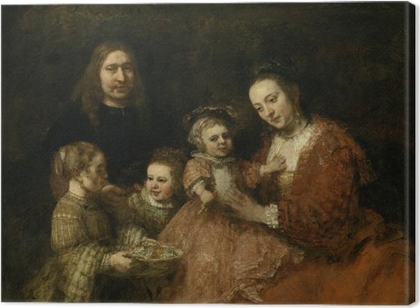 Tableau sur toile Rembrandt - Portrait de famille - Reproductions