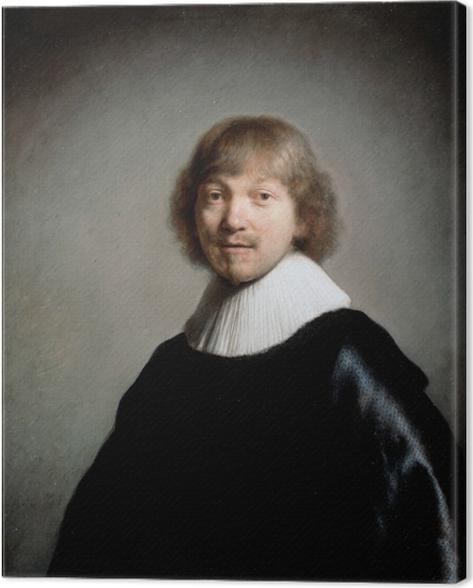 Tableau sur toile Rembrandt - Portrait de Jacques III de Gheyn - Reproductions