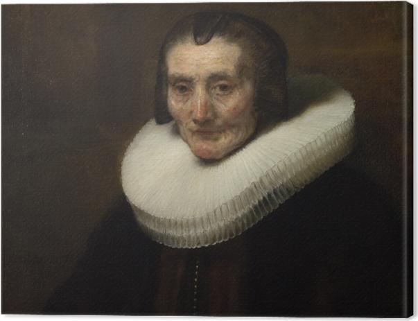 Tableau sur toile Rembrandt - Portrait de Margaretha de Geer - Reproductions