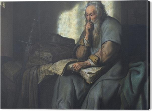 Tableau sur toile Rembrandt - Saint Paul en prison - Reproductions