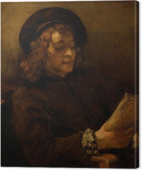 Tableau sur toile Rembrandt - Titus en train de lire - Reproductions