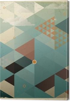 Tableau sur Toile Résumé Contexte rétro géométrique de nuages
