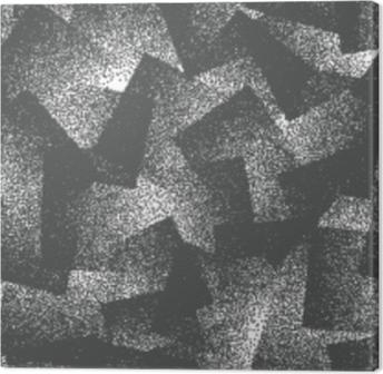 Tableau sur toile Résumé de vecteur pointillé modèle sans couture de hipster bizarre. fait à la main géométrique pointillé grunge blanc et noir solide fond simple. illustration d'art bizarre