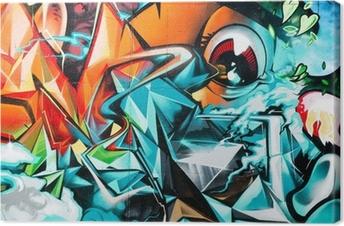 Tableau sur toile Résumé détail Graffiti sur le mur texturé