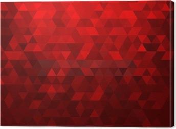 Tableau sur toile Résumé fond rouge mosaïque