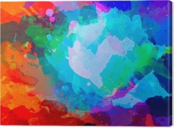 Tableau sur toile Résumé palette d'aquarelle de couleurs de mélange