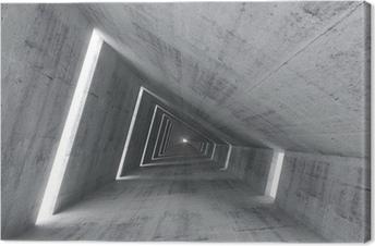 Tableau sur toile Résumé vide intérieur en béton, 3d rendent d'un tunnel en pente
