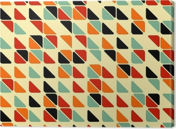 Tableau sur toile Retro abstract seamless pattern avec des triangles