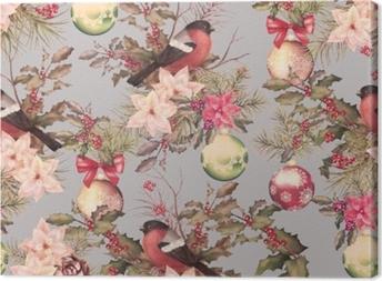 Tableau sur toile rétro Noël seamless