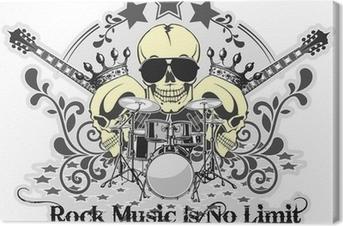 Tableau sur toile Rock n roll symbole 4