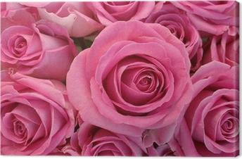 Tableau sur toile Rose bouquet de fleurs gros plan