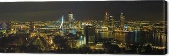 Tableau sur toile Rotterdam la nuit