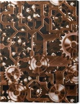 Tableau sur toile Rouages et les engrenages steampunk