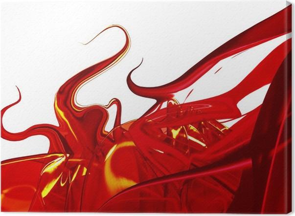 Tableau sur Toile Rouge abstrait • Pixers® - Nous vivons pour changer