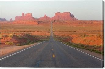 Tableau sur toile Route de Monument Valley
