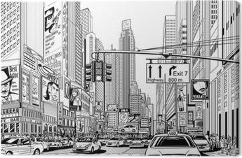 Tableau sur toile Rue à New York