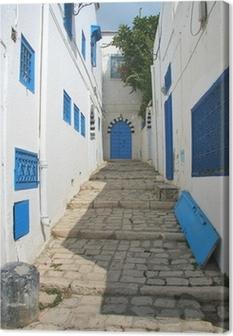 Tableau sur toile Rue à Sidi Bou en Tunisie