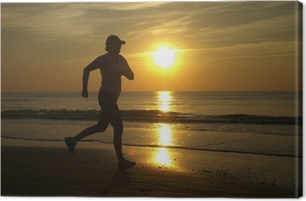 Tableau sur toile Running woman