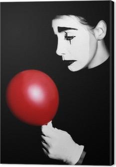 Tableau sur toile Sad mime interprète Pantomime