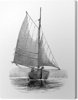 Tableau sur toile Sailling Bateau - Voilier - 19e siècle