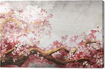 Tableau sur toile Sakura branche floraison