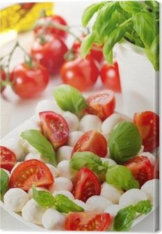 Tableau sur toile Salade tomates et de mozzarella