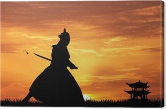 Tableau sur toile Samourais