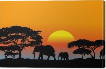 Tableau sur toile Savane africaine