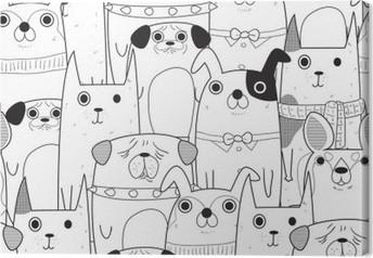 Tableau sur toile Seamless chiens