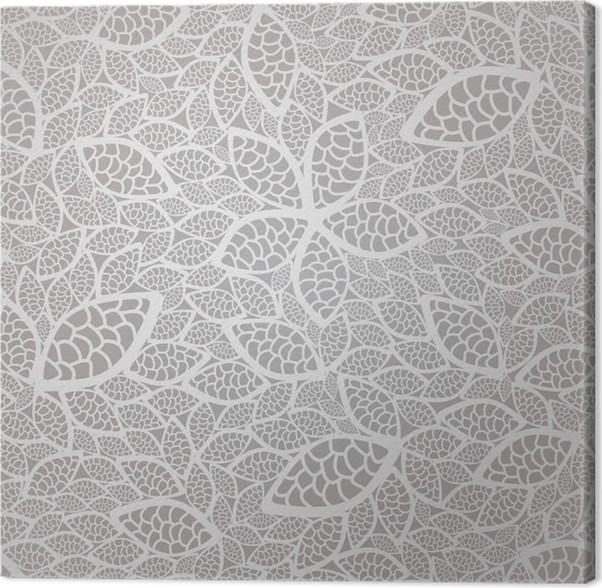 tableau sur toile seamless dentelle de feuilles d 39 argent motif de papier peint pixers nous. Black Bedroom Furniture Sets. Home Design Ideas