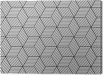 Tableau sur toile Seamless géométrique avec des cubes.