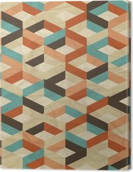 Tableau sur toile Seamless Pattern Retro géométrique