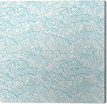 Tableau sur toile Seamless texture échelle ondulée