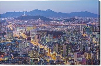 Tableau sur toile Séoul Skyline