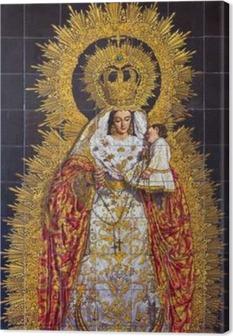 Tableau sur toile Séville - La céramique carrelée Madonna