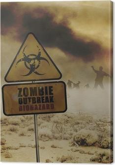 Tableau sur toile Signe zombies du désert