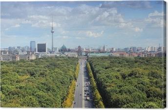 Tableau sur toile Skyline de Berlin avec le parc Tiergarten