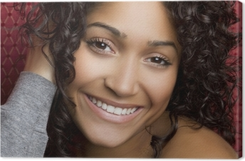 Tableau sur toile Smiling Black Girl