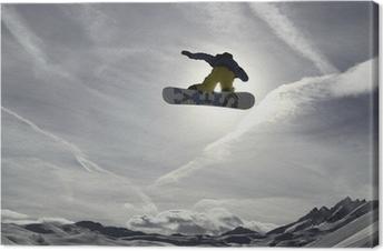 Tableau sur toile Snowboard