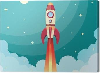 Tableau sur toile Space rocket impression
