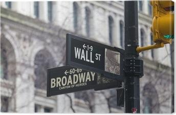 Tableau sur toile St mur. plaque de rue, New York, USA.