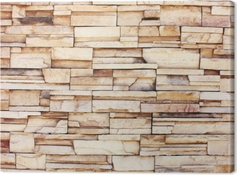 Tableau sur toile Stacked mur de pierre