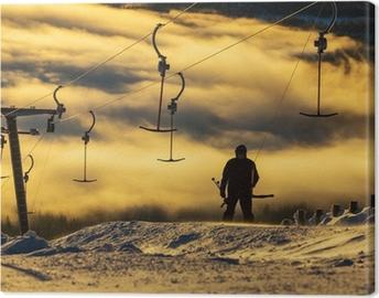 Tableau sur toile Station de ski